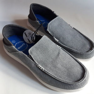 Mens Grey Boat Shoes Size 9